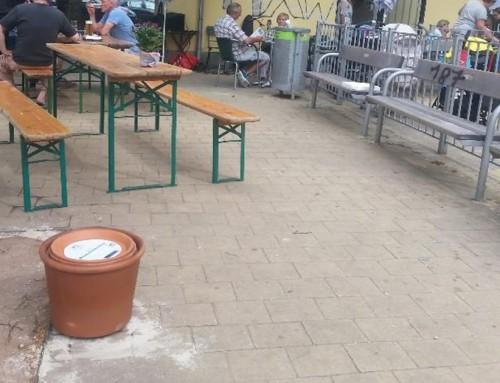 Aktion bei der Neueröffnung am N.-Vogl Platz