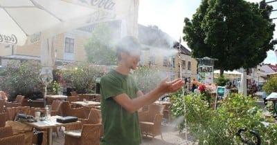Verdunstungskühlung mit Nebelsystemen