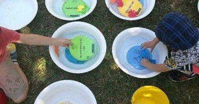 Intervention im Schubertpark Wasserspiele für Kinder